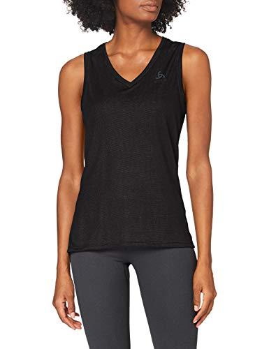 Odlo Damen Unterhemd BL TOP V-Neck Singlet Active F-Dry Light, Black, XL, 141041
