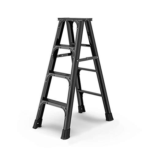 SCJ Escalera, Escalera Escalera de Aluminio Discurso Engrosado Proyectos de Vivienda Escalera Plegable multipropósito Interior Stepper, A