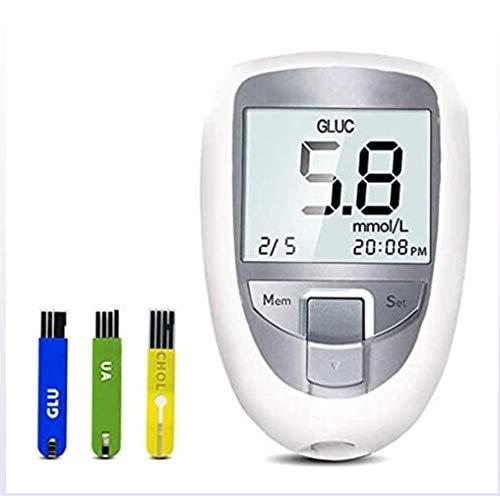 Fbestxie Teststreifen Für Blutzuckermessgerät Harnsäuremessgerät Zur Überwachung des Holesterol-Tests,Blood Sugar 50 Tablets (d)