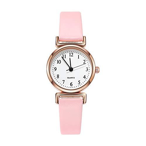 JZDH Relojes para Mujer Mujeres Relojes Ladies Moda Casual Reloj de Cuarzo Número árabe Dial Silicone Strap Watch Relojes de Pulsera para Mujeres Relojes Decorativos Casuales para Niñas Damas