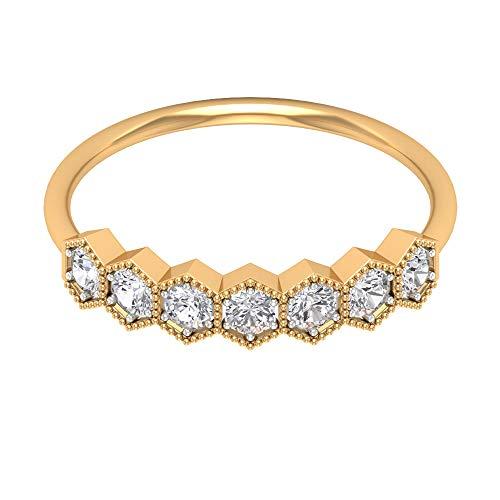 Rosec Jewels 14 quilates oro amarillo round-brilliant-shape H-I Diamond