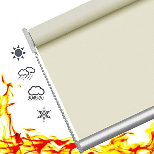 YJFENG Brandschutz Verdunklungsrollo Thermo Rollo 50% Blackout,Das Licht Blockieren Temperatureinstellung Stabile Struktur Dauerhaft Büro Restaurant,Anpassbar (Color : Light Gray, Size : 60x180cm)