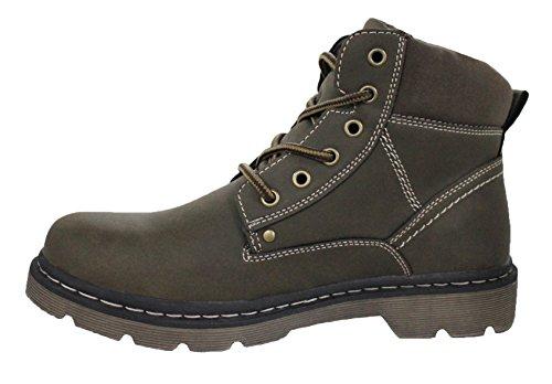 Stivaletti uomo hanson invernali scarpe casual stivali marrone con pelliccia interna (41)