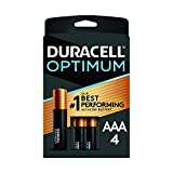 Duracell Optimum AAA Batteries | 4 Count Pack | Lasting Power Triple A Battery | Alkaline AAA Battery Ideal for Household and Office Devices | Resealable Package for Storage