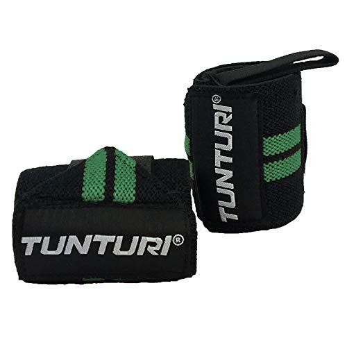 Tunturi - Protector de muñeca unisex, color negro y verde, 2 unidades