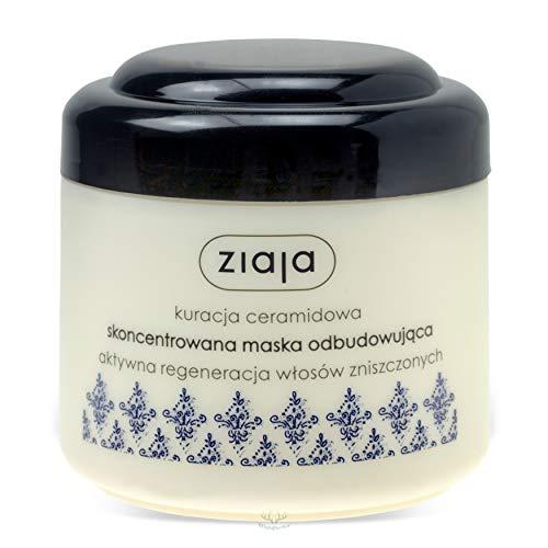Máscara de tratamiento intensivo, cuidado del cabello, reconstrucción del cabello con ceramida, 200ml, de Ziaja