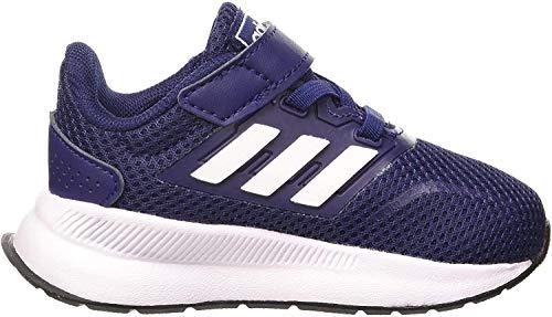 adidas Unisex-Baby Runfalcon First Walker Shoe, Dark Blue/Footwear White/Core Black, 27 EU