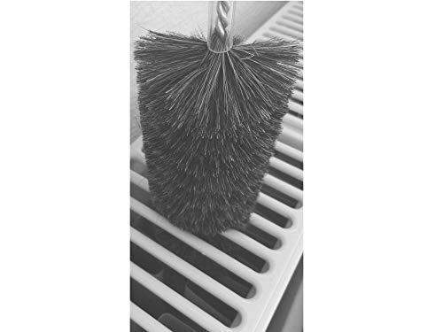 EXCOLO Heizkörper Staubbürste für Heizkörperreinigung Heizkörperbürste 120 cm lang Borsten aus Ziegenhaar