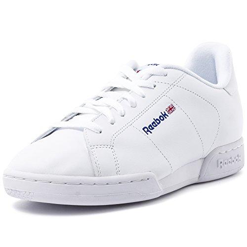 Reebok NPC II, Zapatillas de Cuero para Hombre, Blanco (1354), 40.5 EU