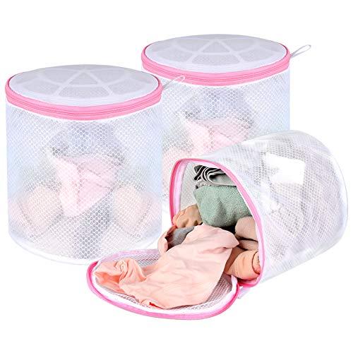 Bra Washing Bag for Laundry, 3-Pack Lingerie Washing Bag, 7x7 inches Bra Bag for Washing Machine, Baby Washer Bag, Socks Bag
