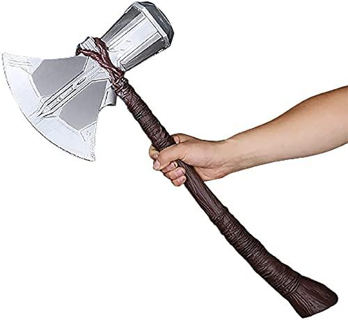 MOMAMOM Hacha De Thor Marvel Legends Martillo 69cm PU Espuma Juguete Super Heroe Avengers Stormbreaker Mjolnir Vikinga Axe Cosplay Prop El Arma de Thors Accesorios