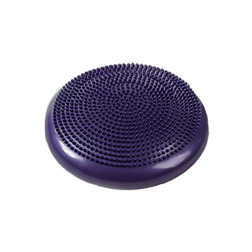 Abaodam Inflated Stability Wobble Cushion Extra Thick- Disc Wiggle Seat for Improving Core Strength Relieving Back Pain (Purple) Sporting Goods