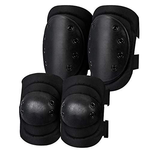 OPLIY Tactical Knee Pads,Airsoft Knee & Elbow Protective Pads Guard for Army, Paintball, Hunting and Anyother Outdoor Sports