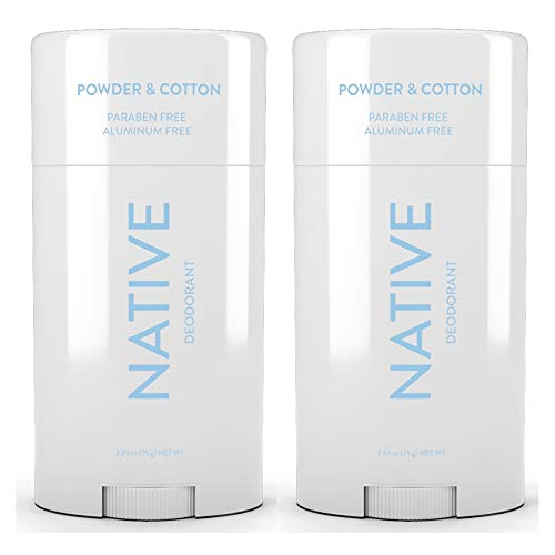Native Deodorant Powder & Cotton 2.65oz (2 pack)