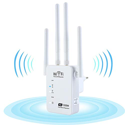 KuWFi wifi Repetidor, 1200 Mbps, amplificador wifi Dual Band AC1200 5 GHz/2,4...