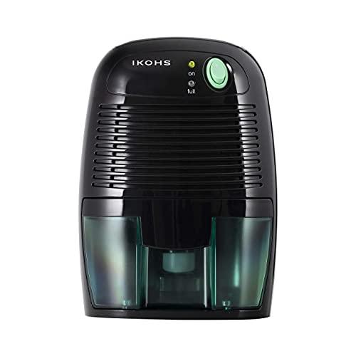IKOHS DRYZONE - Deshumidificador Eléctrico Portátil 500ml, Mini, Compacto, Portátil, Ultra Silencioso y Bajo Consumo, Apagado Automático, para Hogar, Cocina, Baño, Armarios, Garajes