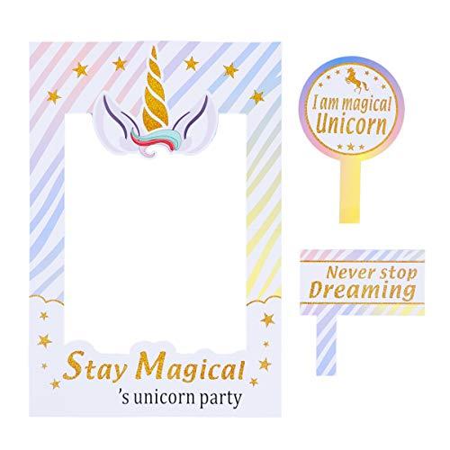 PRETYZOOM - Marco de fotos, diseño de unicornio