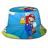 Sombrero de Pescador Super-Mario, protección UV de Verano, Sombreros de Cubo de Viaje, Gorra de Sol Plegable para Playa para Hombres y Mujeres-O0