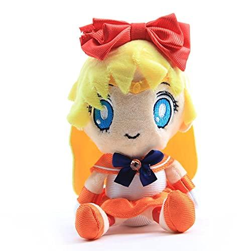 Sailor Moon Juguetes De Peluche Muñeca Venus Princesa Juguetes De Peluche Mujeres Niños Bebé 18Cm, Regalo Personajes De Anime Niñas Felpa