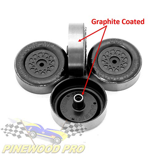 Pine Derby Speed Wheels - PRO Lathed, Graphite Coated