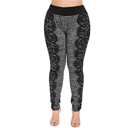 Panty's, joggingbroek, brede broeken, broeken voor vrouwen plus maten, elastische hoge kant, split, elastische taille, vrijetijdsbroek. X-Large grijs