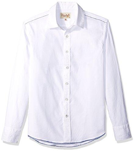 Margaritaville Men's Long Sleeve Guitar Parrot Graphic Shirt, Cream, Medium