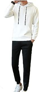 Maweisong Men Casual Fleece Lined Sweatshirt Sweatpant 2 Piece Set