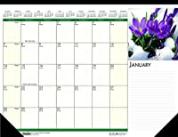 大容量2021 コンパクトフローラルデスクパッドカレンダー 12ヶ月 1月~12月: HOD1596 (デスクパッドカレンダー18枚)