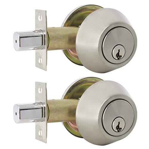 Probrico DLD101SNDB - Serratura di sicurezza per porta con chiave, in acciaio INOX, con chiave singola, sicura