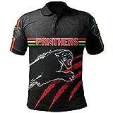 CYFCXK Bleu Marine Jaguar Hero Mode T-Shirt Domicile Et Extérieur Polo Rugby Vêtements Manches Courtes Hommes