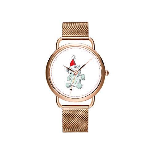 Reloj de Pulsera para Mujer, Correa de Malla, ultradelgada, Impermeable, Reloj de...