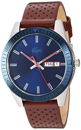 Lacoste Legacy - Reloj de Cuarzo para Hombre, Acero Inoxidable, Correa de Piel de Becerro, marrón, 20 (Modelo: 2010981)