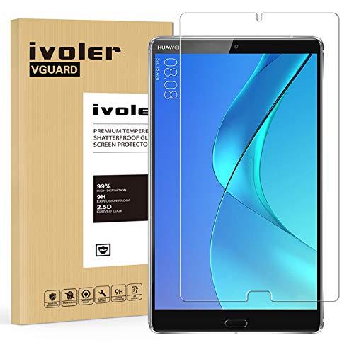 iVoler Panzerglas Schutzfolie für Huawei MediaPad M5 8.4, 9H Festigkeit, Anti- Kratzer, Bläschenfrei, 2.5D R&e Kante