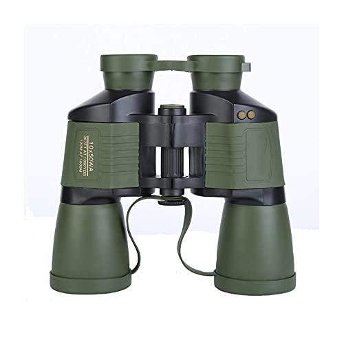 Binoculares 10x50 para adultos adultos con enfoque automático dinámico alta potencia prisma HD BAK4 lentes FMC prismáticos con lente clara y débil visión Life binocular impermeable para observación