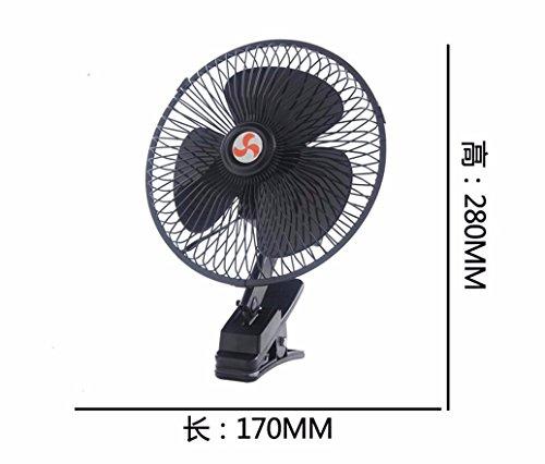 JISHUQICHEFUWU Ventilateur/Voiture avec Un Petit Ventilateur/Ventilateur Rotatif/pièces Auto, L, 12V