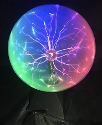 """Osairous Luz de bola de plasma, Bola de Luz Esférica Mágica de 6"""" Lámpara de Rayos Iónicos Sensible al Tacto y al Color de 3 colores"""