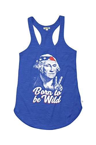 Women's Blue Born to Be Wild Tank Top - USA 4th of July Shirt: S