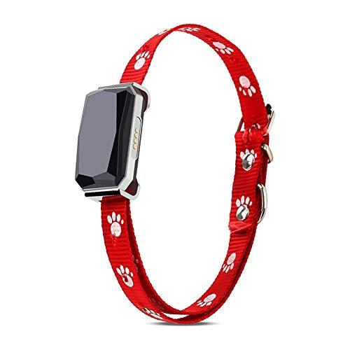Hankyky Smart GPS Tracker- Mini- Collar de posicionamiento para Mascotas IP67 (para Perros y Gatos) AGPS LBS Posicionamiento Geofence SOS Rastreador en Tiempo Real- Rastreador Anti-pérdida