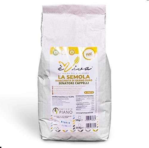 Semoule remoulue de blé dur ancien Senatore Cappelli avec germe de blé vivant kg 5. 100% naturel. 100% italien