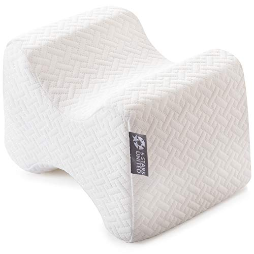 Knee Pillow for Side Sleepers - 100% Memory Foam Wedge Contour - Leg Pillows for Sleeping - Spacer Cushion for Spine Alignment, Back Pain, Pregnancy...