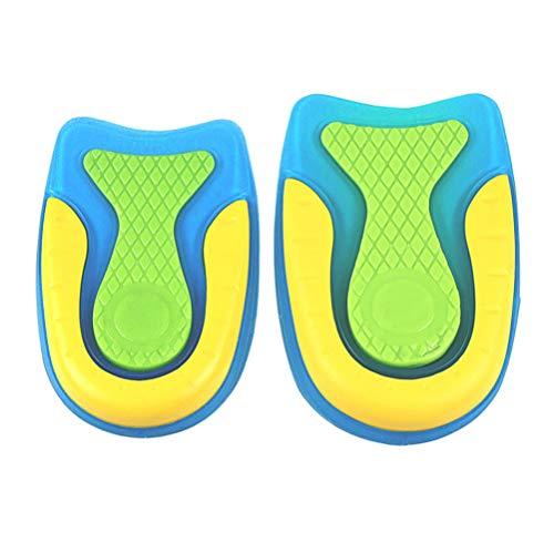 HEALLILY 2 Pares de Tacones de Gel con Amortiguación de Plantillas Deportivas para Calzado Almohadillas Protectoras para Almohadillas para Fascitis Plantar Talla S