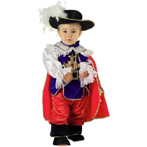 Clown Republic- Petit Mousquetaire Costume, CS24112/12, Multicolore, 12 Mois