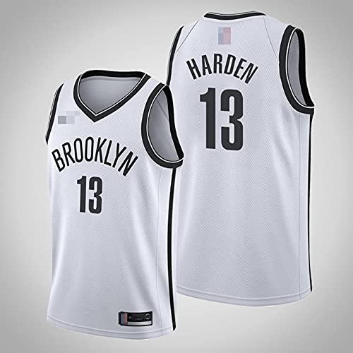 YDYL-LI Jerseys Men's, 4 Tipos NBA Brooklyn Nets # 13 James Harden - Classic Basketball Sportswear Flojo Comfort Chalecos Tops, Camisetas Sin Mangas Uniformes,Blanco,XXL(185~195CM)
