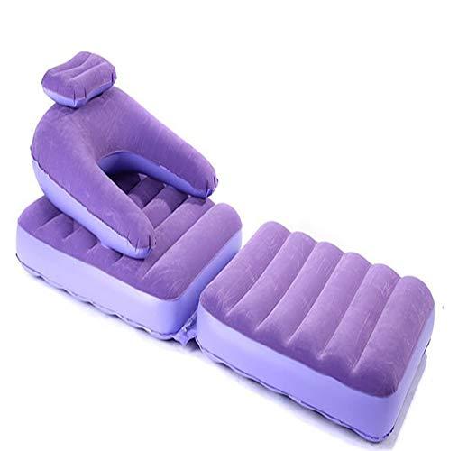 zihui Flocking opblaasbare slaapbank dual-purpose opklapbare ligstoel buiten enkele paarse slaapbank