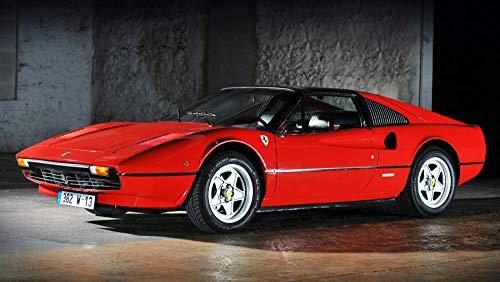 GUANGMANG Puzzles Rompecabezas- 1982 Ferrari 308 GTS Red Auto Car Art Póster De Pared De Seda - Rompecabezas De Madera...