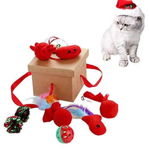 huahuajia Gato Juguete Interactivo Raton Juguete Gato Juguetes Interactivos para Gatos para Gatos Gato Cosas para Gatos Rueda Ejercicios Cosas De Gatos set-9pcs