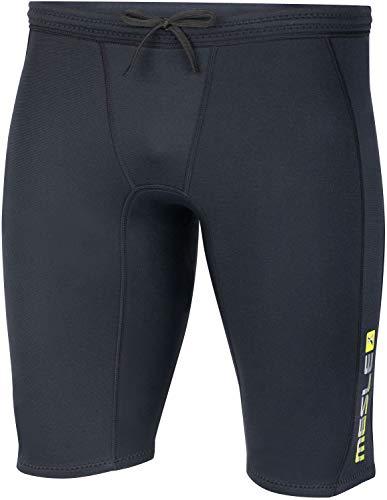 MESLE Neopren Shorts Bermuda Men, Neopren-Hose für Männer, 2 mm Flex Stretch Neopren, Schnürverschluss, schwarz grün, Größe:M - 50