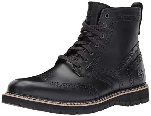 Timberland Mens Britton Hill Wingtip Black Boot - 11