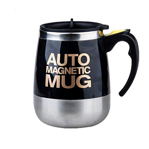 WEYQ Tragbare automatische mischen automatische mischen Edelstahl Tasse kaffeetasse magnetisiertes Wasser geeignet für Home Office reisegeschenke 400 ml verwenden Menge,Schwarz