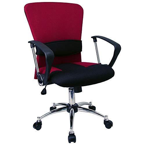 Flash Furniture Mid-Back Red Mesh Swivel Task...